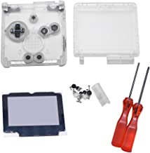 Meijunter Replacement Transparent Clear Full Housing Shell Case Repair Parts Kit w/Lens&Screwdriver for Nintendo Gameboy Advance SP GBA SP Console