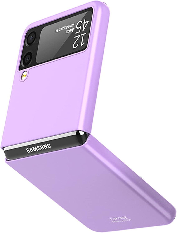 NINKI Thin Case for Samsung Galaxy Z Flip 3 Case 5g 2021 Purple,Shockproof Lightweight Hard PC Case for Samsung Galaxy Z Flip 3 Case,Compatible Samsung Z Flip 3 5G Case Accessories Phone Case-Purple