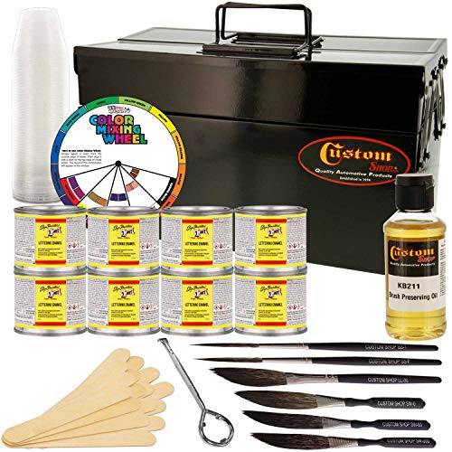 Price comparison product image One Shot Automotive Complete Striper Pinstriping Starter Kit - 8 Colors