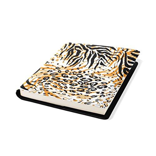 COOSUN Tiger Peau Pattern Book Cover Sox Stretchable Livre, La Plupart des Fits Relié jusqu'à 9 manuels x 11. adhésif Libre, école Cuir PU Livre Protector 9 x 11 Pouces Multicolore