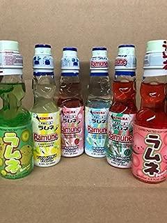 KC Commerce Japanese Ramune Soda Variety Set ( Pack of 6 )