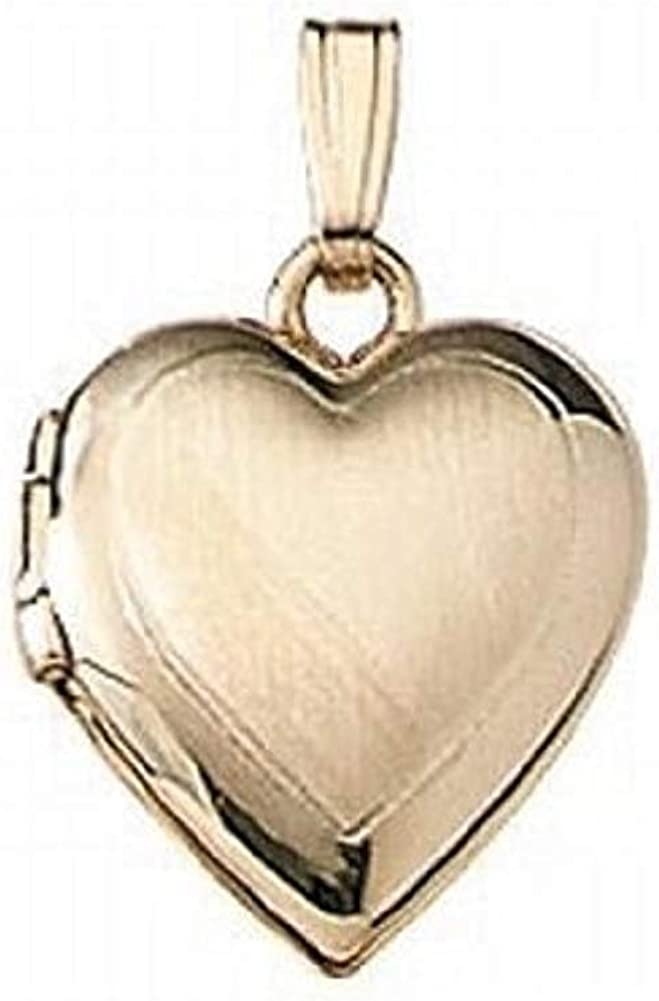 PicturesOnGold.com Solid 14K Yellow Animer and price revision Gold Heart 2 Small 1 Locket National products