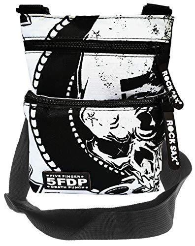 Roca Sax 'digitada cinco Death Punch' Cross Body Bag Banda oficial Merch