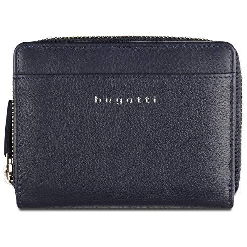 Bugatti Lady Top Portemonnaie Damen Leder 14 CC, Geldbörse Damen Leder - Portmonee Geldbeutel Damengeldbörse - Blau