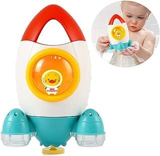 AM ANNA Toddler Baby Bath Toys, Rocket Rotating Water Spray Bath Toys for Babies Bathtub Toys