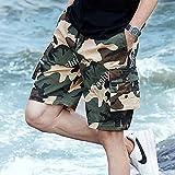 Summer Camo Men Cargo Shorts New Board Shorts Hombres Pantalones Cortos Cómodo Hombres Cool Camuflaje Algodón Casual 6XL FK167Khaki
