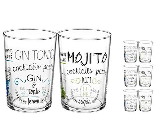 Pasabahce Set da 6 Bicchieri Decorazione Cocktail 50 cl CP