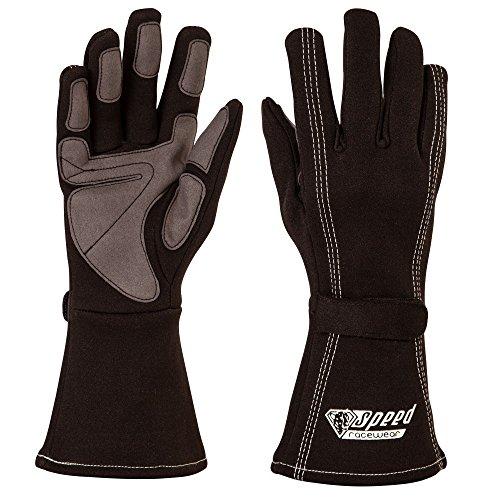 Speed Kartsport Handschuhe Auckland - Motorsport Handschuhe (schwarz, 8)