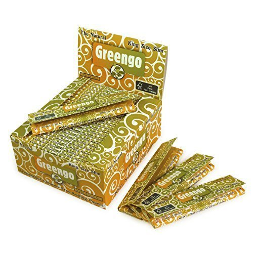 Greengo - Papel de fumar (110 x 44 mm, 100% libre de clorina, goma árabe con grosor de 14 g/m², 50 unidades)