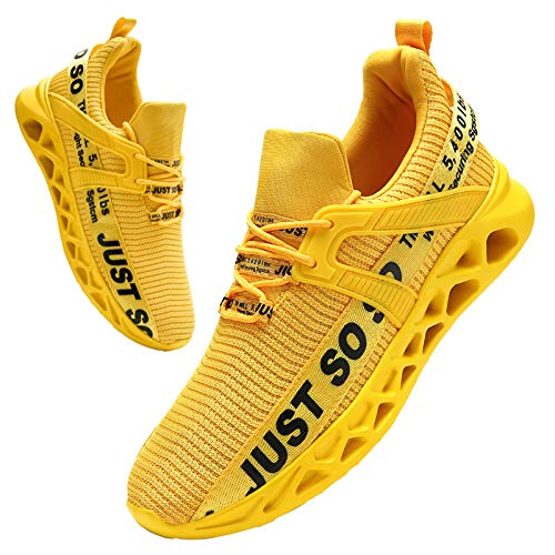 BUBUDENG Hombre Deportivas Zapatillas Running Hombre Tenis Zapatillas de Tenis para Hombre con Cordones Casuales y Ligeras