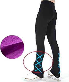 Girl's Figure Skating Practice Pants Polar Fleece Training Competition Pants Breathable Comfortable