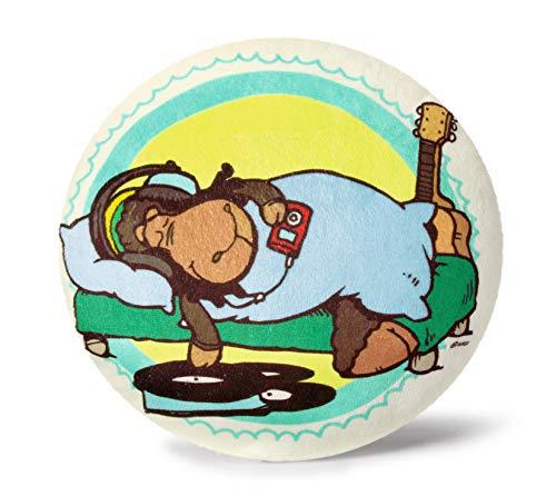 NICI 34601 - Kissen Jolly Bob mit Gitarre und Platten rund, ø 26 cm