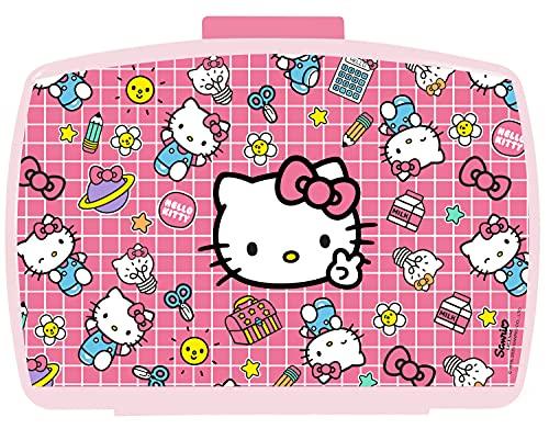 POS 33114 - Fiambrera con bandeja extraíble en diseño de Hello Kitty, 16 x 12 x 6,5 cm, plástico,...
