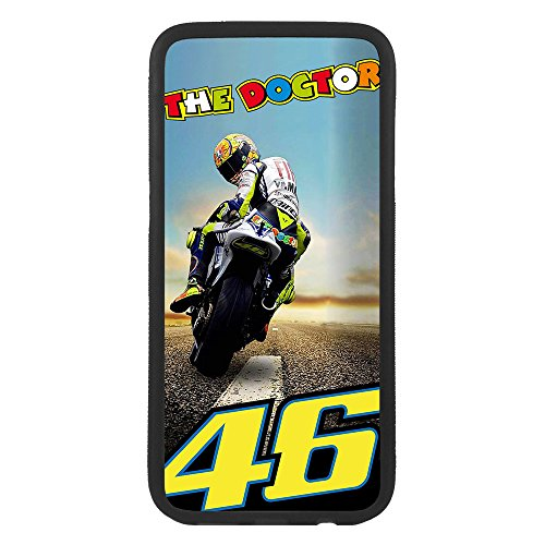 afrostore Funda Carcasa de móvil para Apple iPhone 7 Valentino Rossi 46 TPU Borde Negro