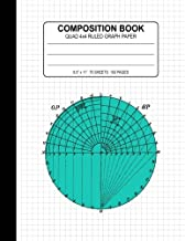 Composition Book Quad Ruled: 4x4 Graph Paper Notebook (Large 8.5