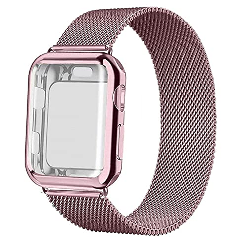 Electronic Strap Accessories Case+Strap For Apple Watch Band 44Mm 40Mm 42Mm 38Mm 42 40 44 Mm Metal Magnetic Loop Watchband Bracelet Iwatch Series 5 4
