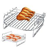 Dioche Griglia per Barbecue, Sostituzione BBQ Cremagliera Doppio Strato di Forno per friggitrice Philips Air