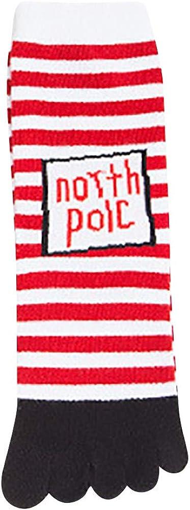New Christmas Five Finger Socks Unisex Adult's Warm Stagger Sock for Men & Women KLGDA