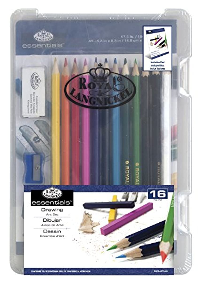 ROYAL BRUSH Clearview Mini Art Set-Drawing 16pc