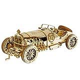Robotime 3D立体パズル 木製パズル 木製 レーザーカット ギア ミニチュア オモチャ 知育玩具 男の子 女の子 大人 入園祝い 新年 ギフト 誕生日 クリスマス プレゼント 贈り物(スポーツカー)