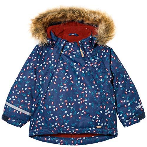 MINYMO Girls Snow Herringbone Jacket, Rio Red, 98