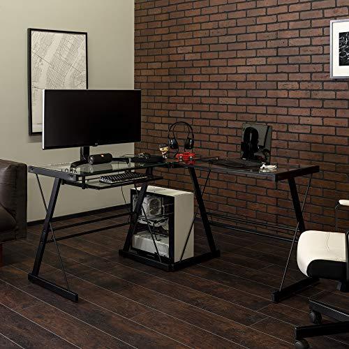 5. Walker Edison 3-Piece Contemporary Desk