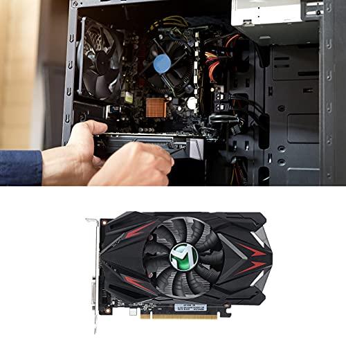 Tarjeta gráfica, 2GB 64Bit MS-GT1030 GPU GDDR5 Mini ITX DVI-D Tarjeta gráfica, Perfil bajo, bajo Consumo, Interfaz Multimedia HD, DVI, Sistema de enfriamiento silencioso de un Solo Ventilador