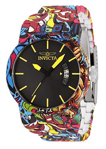 Invicta Relógio feminino de quartzo DNA com pulseira de aço inoxidável, prata, revestimento água, 29 (modelo: 34489)