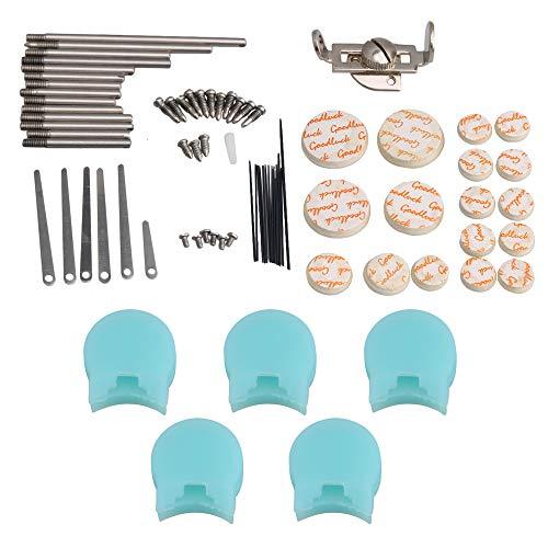 BQLZR Kit de reparación de clarinete eje de llave de tornillo superior, perno de viento tipo A y 5 reposapiés azul para pulgar