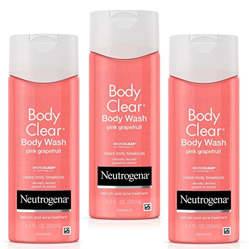 Neutrogena Body Clear Body Wash with Salicylic Acid Acne Treatment to Prevent Breakouts, Pink Grapefruit Scent, 8.5 fl. oz (3 Pack)