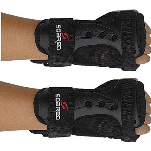Glield Unisex Ski Snowboard Protektoren Handschuh Handgelenk Unterstützung-1 Paar HXHS01 (M)