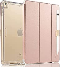 Valkit iPad Mini 5th Generation 2019 Case, iPad Mini 4 Case,Shockproof Protective Smart Folio Stand Protective Heavy Duty Rugged Impact Resistant Armor Cover[with Auto Sleep/Wake], Rose Gold
