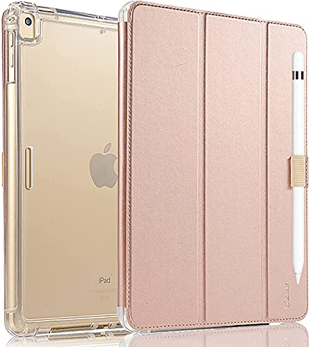 Valkit iPad Mini 5th Generation 2019 Case, iPad Mini 4 Case,Shockproof Protective Smart Folio Stand Protective Heavy Duty Rugged Impact Resistant Armor Cover[with Auto Sleep Wake], Rose Gold