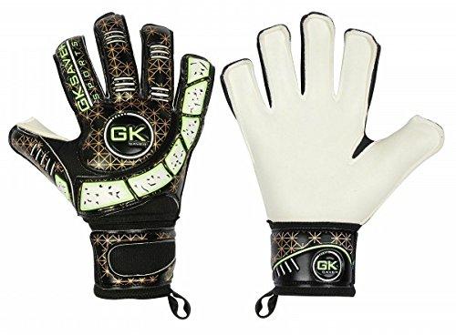 Gk Saver Kinder Fußball-Torwarthandschuhe Cool 04 schwarz flache Finger (keine Fingersave Yes Personalisierung, Größe 4)