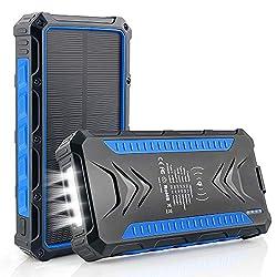 🔋【36000mAh Batterie Externe】Cette batterie externe a une capacité de 36000mAh, une fois complètement chargée, plus besoin de s'inquiéter pour la batterie de votre téléphone. La banque d'alimentation sans fil haute capacité peut fournir suffisamment d...