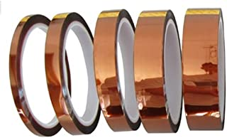 ポリイミド絶縁耐熱テープ (幅5mm、10mm、15mm、20mm、25mm)長さ30m  5種セット 電子工作の必需品 基板の エッジコネクタ 保護に