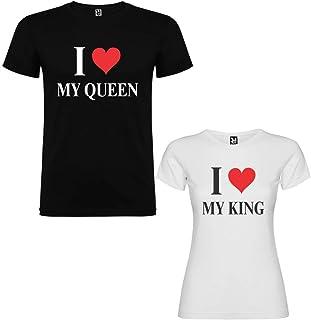 4b09a1d0ce Amazon.es: camiseta parejas king and queen - Otras marcas de ropa ...
