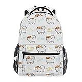 Stilvoll Pommerscher Hund Rucksack-Leichte School College Reisetaschen 16 X 11,5 X 8 Zoll