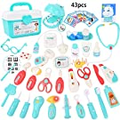 Sotodik 43PCS Doctor Kit Dentist Toys for Kids,Pretend Paly Doctor Medical kit with Eyesight Test and Electronic Stethoscope Educational Toy for Toddler Boys Girls Holiday Birthday Gift