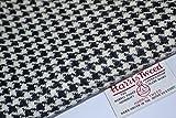Harris Tweed Stoff 100% reine Schurwolle schwarz & weiß