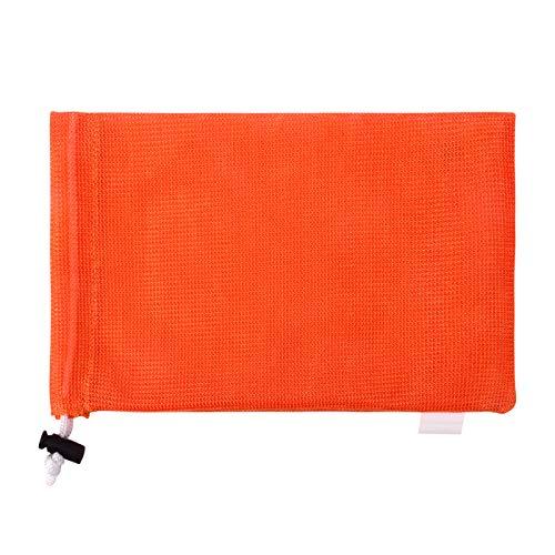 巾着のスポーツ バッグ ランドリー メッシュ バッグ 多機能 100% 洗濯機と乾燥機の安全なメッシュ バッグ エコフレンドリーな再利用可能なバッグ (オレンジ, 30.5cm X 45.7cm)