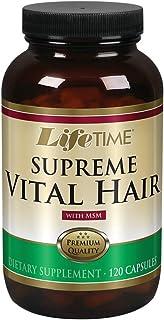 Lifetime Supreme Vital Hair | Supports Healthy Hair, Nails & Skin | Biotin, MSM, Vitamins B, C, & A, Zinc, Horsetail & Mor...