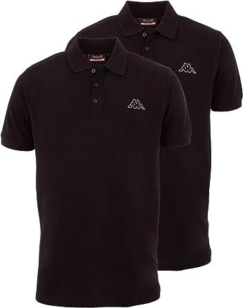 Kappa Polo para hombre Venist en paquete de 2 unidades, camisa polo con logotipo impreso   Polo básico para hombre   Polo de manga corta para deporte, ...