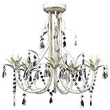 Tidyard Lámpara Araña de Techo Colgante Diseño Clásico y Elegante con Cristales...