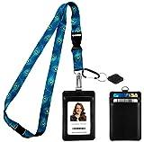 Cordino//collo in raso per porta badge biglietto da visita carta per autobus carta per studenti portachiavi Blu notte, 12
