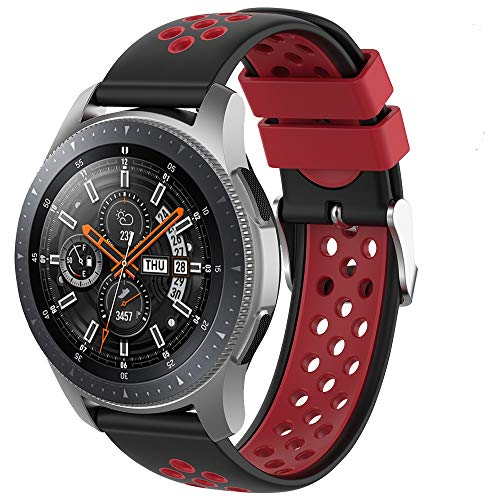 Songsier Compatible con Correa Gear S3 Frontier/Galaxy Watch 3 45mm/Galaxy Watch 46mm/Gear 2 /Huawei Watch GT2 46mm/Watch GT 46mm/Moto 360, Correa de Repuesto de Silicona de 22 mm