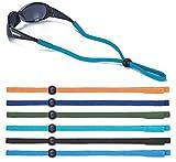 Kids Glasses Strap for Boys Sports Sunglasses Lanyard, Adjustable Eye Glasses String Strap, Pack of 6, Multicolor