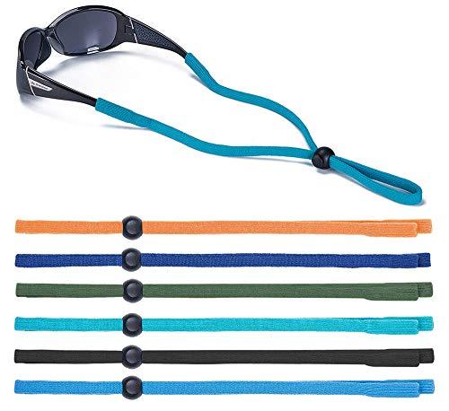 Kids Glasses Strap for Boys Sports Adjustable Nylon Rope Eyewear Strap Anti-slip Sunglasses Retainer, Pack of 6, Multicolor