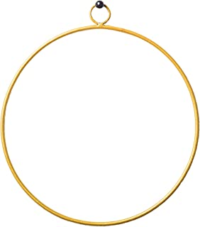 hrubie Modern Gold Finished Metal Wreath Frame | Ideal for Crafts, Flower Arrangements, Dreamcatcher Rings and Macrame Hoops | and Boho Styles (Circle) (8 in)