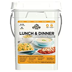 11 varieties of entrées and soups (including dessert) 92 servings, 21,170 calories, and 557 grams of protein 4-gallon watertight pail for easy transportation Great for home, cabin, motorhome, and office Easy to prepare, ready in minutes Shelter-in-pl...